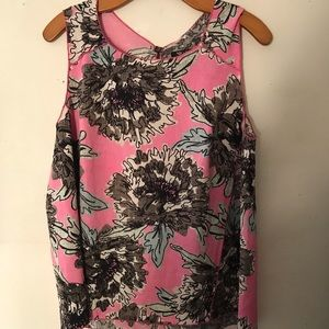 Nic & Zoe Pink Floral Sleeveless Top